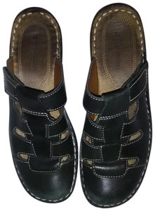 Naturalizer Leather Waffle Weave Super Comfortable Black Mules