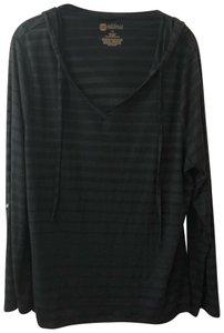 Balance Collection by Marika Striped Hooded Plus-size Casual Sporty Sweater