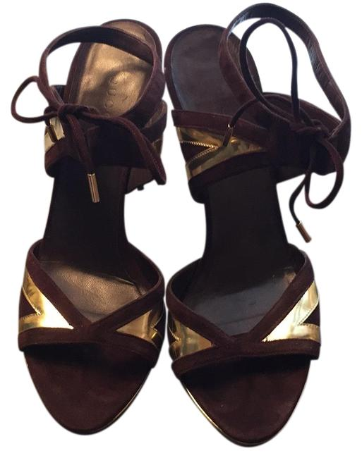 Item - Purple and Gold Sandals Size EU 37 (Approx. US 7) Wide (C, D)