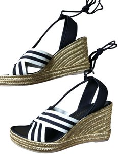 Marc Jacobs New Espadrille Black And White Tie Up Ankle Ties CLEARANCE--NIB- Sandals