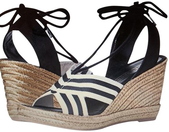 Marc Jacobs New Espadrille Black And White Tie Up Ankle Ties CLEARANCE--NIB- Sandals Image 1