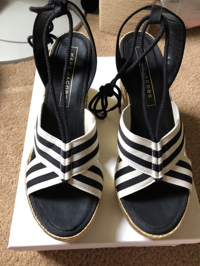Marc Jacobs New Espadrille Black And White Tie Up Ankle Ties CLEARANCE--NIB- Sandals Image 3