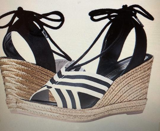 Marc Jacobs New Espadrille Black And White Tie Up Ankle Ties CLEARANCE--NIB- Sandals Image 11