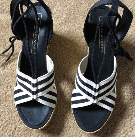 Marc Jacobs New Espadrille Black And White Tie Up Ankle Ties CLEARANCE--NIB- Sandals Image 4