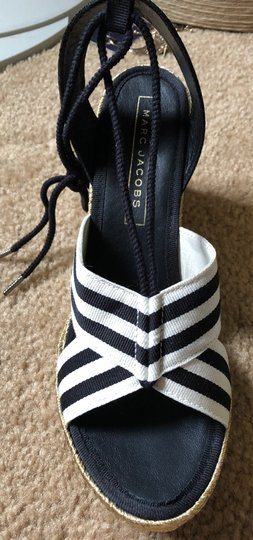 Marc Jacobs New Espadrille Black And White Tie Up Ankle Ties CLEARANCE--NIB- Sandals Image 5