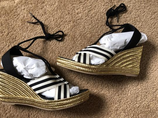 Marc Jacobs New Espadrille Black And White Tie Up Ankle Ties CLEARANCE--NIB- Sandals Image 7