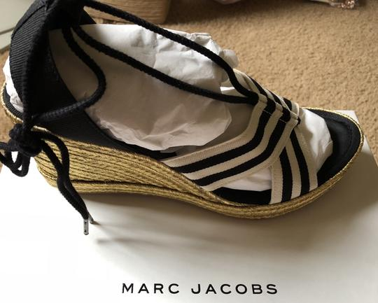 Marc Jacobs New Espadrille Black And White Tie Up Ankle Ties CLEARANCE--NIB- Sandals Image 8