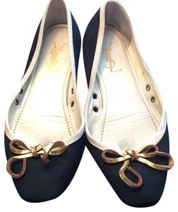 Saint Laurent navy Flats