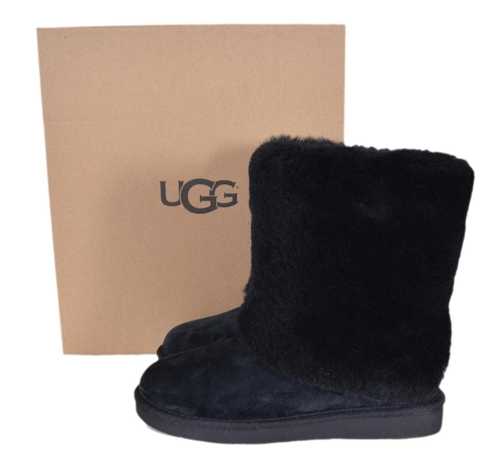 289cb34cbe9 UGG Australia Black New Women's Patten 1006011 Suede Lamb Fur Boots/Booties  Size US 5 Regular (M, B) 40% off retail