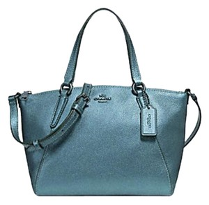 Coach Metallic Hobo Purse Satchel in blue