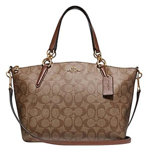 Coach Kelsey Pebbled Leather Crossbody Satchel in multicolor