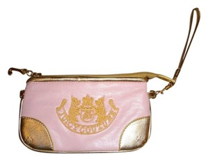 Juicy Couture Wristlet in pink and gold