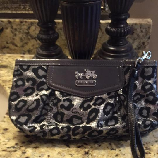 Coach Black/silver Clutch
