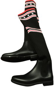 Givenchy black white red Boots