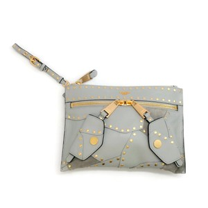 Moschino Gray Clutch