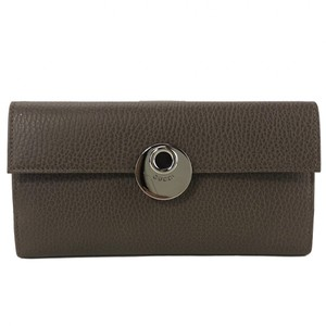Gucci NEW GUCCI 231835 Women's Leather Grey Field Continental Wallet