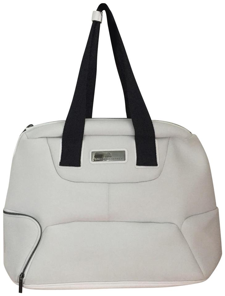 adidas By Stella McCartney Duffel White Polyester Weekend Travel Bag ... c49dfea3db52f