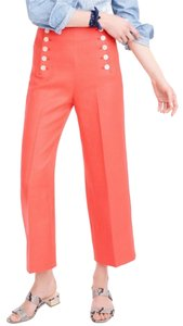 J.Crew Sailor Cute Wide Leg Pants coral/orange