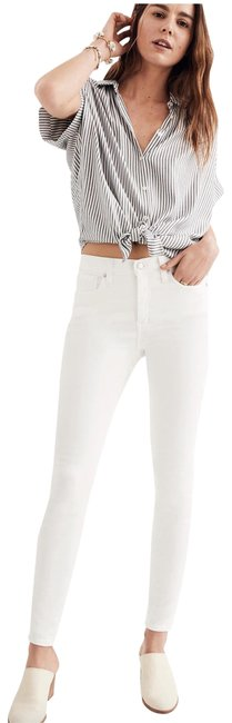 """Item - White 9"""" High-rise In Pure Skinny Jeans Size 24 (0, XS)"""