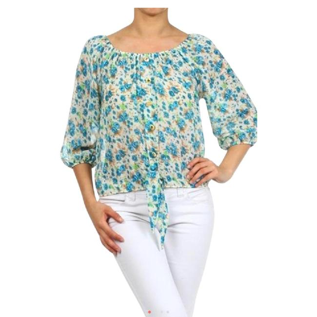 Item - Multicolored Floral Blouse Size 4 (S)