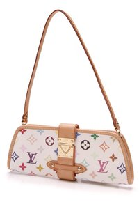 Louis Vuitton White/Multicolore Clutch