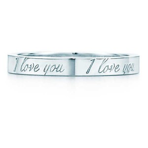 Tiffany & Co. ELSA PERETTI 925 Silver ILOVEU RING Size 3.75
