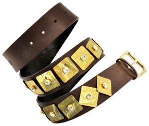 Blumarine Metal jewel embellishment belt