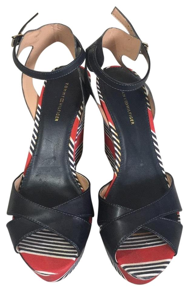9679e638228a8a Tommy Hilfiger Red White and Blue . Wedges Size US 9 Regular (M