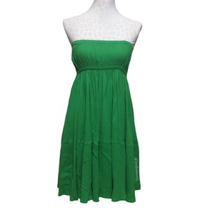 Zara Kelly Green Strapless Flowy Mid-length