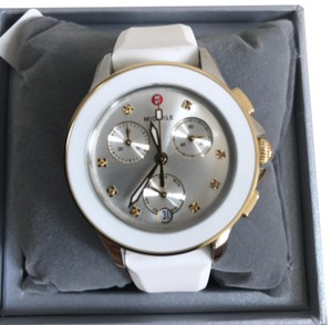 Michele $450 NWT MICHELE ' Cape' Chronograph 2 TONE Watch MWW27C000008