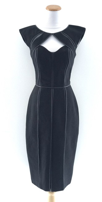 Item - Black Cutout Mesh Mid-length Night Out Dress Size 4 (S)