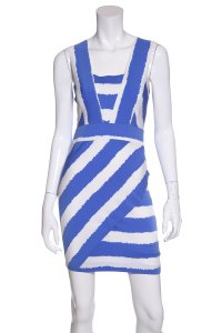 Karina Grimaldi short dress Blue & White on Tradesy
