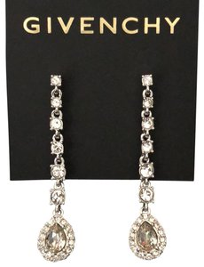Givenchy Givenchy Linear White Gold Tone Crystals Pierced