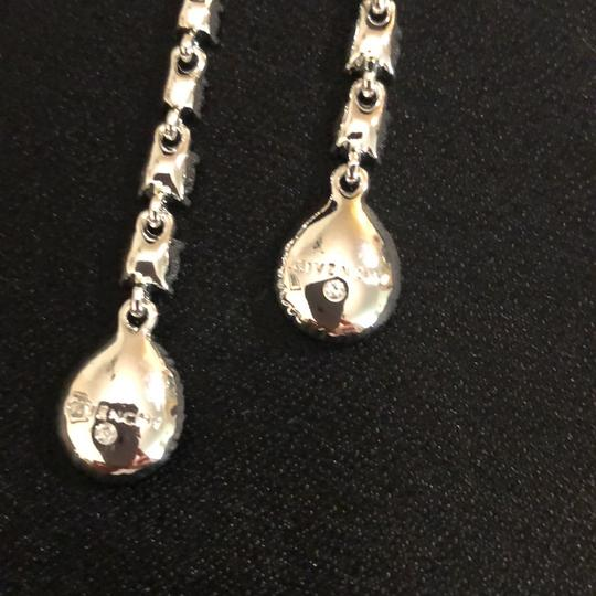 Givenchy Givenchy Linear White Gold Tone Crystals Pierced Image 1