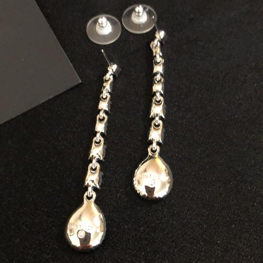 Givenchy Givenchy Linear White Gold Tone Crystals Pierced Image 2