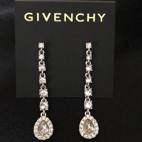 Givenchy Givenchy Linear White Gold Tone Crystals Pierced Image 3