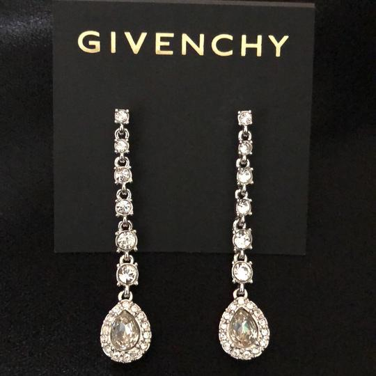 Givenchy Givenchy Linear White Gold Tone Crystals Pierced Image 4