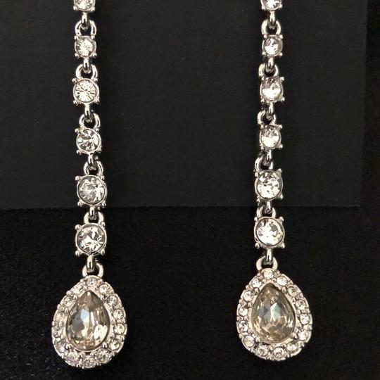 Givenchy Givenchy Linear White Gold Tone Crystals Pierced Image 6
