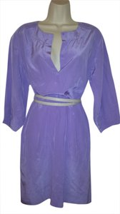 Diane von Furstenberg short dress Lilac Shift Silk Art Deco on Tradesy