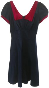 Pinup Couture short dress Navy with red details Retro Belted on Tradesy