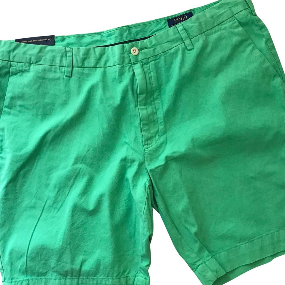 check out 006c4 bb8db Green Flat Front Cotton Shorts