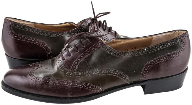 Item - Multicolor Lace Up Oxford Darkbrown/Burgundy/Swampgreen Boots/Booties Size US 10 Regular (M, B)