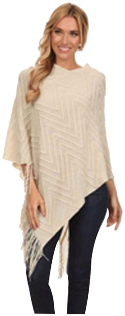 Item - Poncho Available In Taupe White Or Black. Sweater