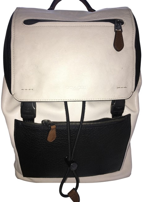 Item - Manhattan In 57759 Black and Cream Mixed Leather Calf Buffalo Backpack