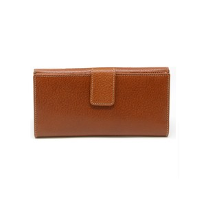 Gucci Signature GG Brown Leather Signoria Buckle Continental Wallet