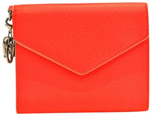 Dior Diorissimo Neon Orange Envelope Wallet