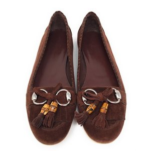 Gucci Chocolate Brown Flats
