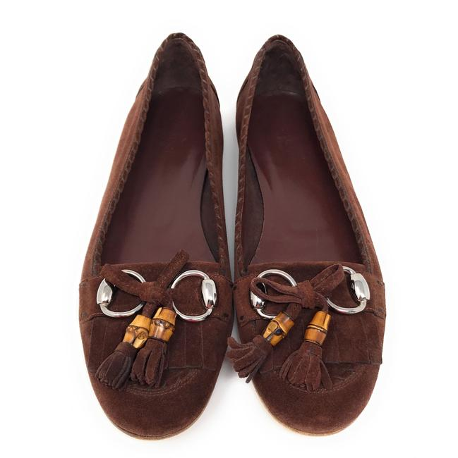 Item - Chocolate Brown Bamboo Suede Flats Size US 9.5 Regular (M, B)