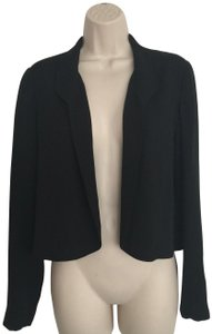 Peter Cohen Cropped Silk Evening Jacket Shawl Collar Chic Top Black