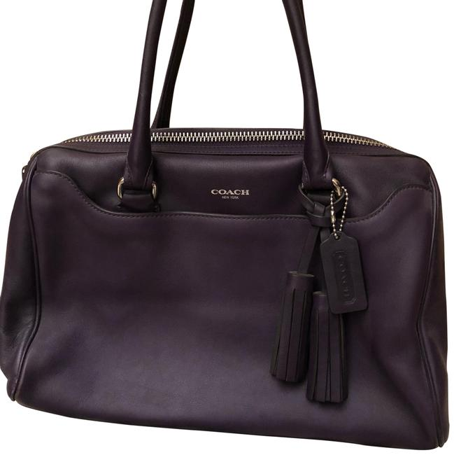 Item - Duffle New York Small Purple Leather Baguette